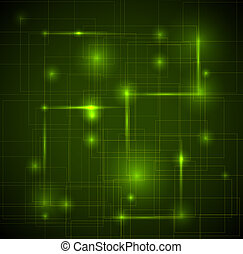 Abstract dark green technical background