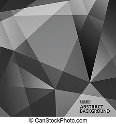 Abstract Dark Grey Geometric Background. Vector Illustration