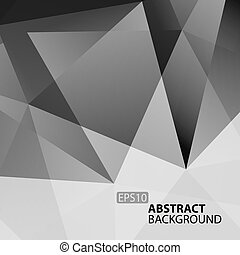 Abstract Dark Grey Geometric Background.