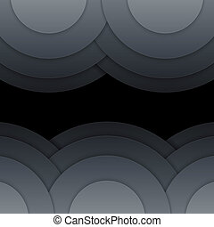 Abstract dark grey paper circles background. RGB EPS 10 ...