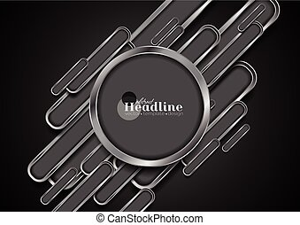 Abstract dark grey tech metal background