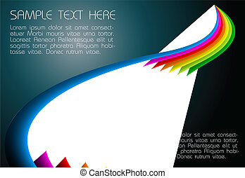 abstract dark rainbow background