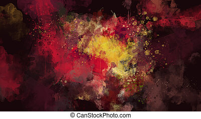 Abstract dark red watercolor background - Hand painted ...