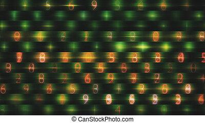 abstract, data, getallen, achtergrond
