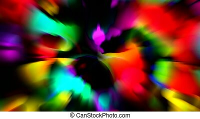 abstract dazzling rays light, flower