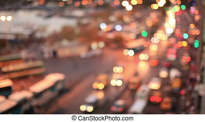de focus traffic light - abstract de focus traffic light in...