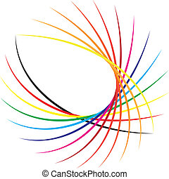 Abstract decorativ elements circle based color swatches