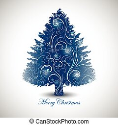 Abstract decorative Christmas tree design