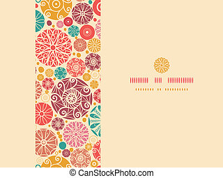 Abstract decorative circles horizontal seamless pattern background