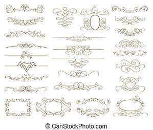 abstract decorative design elements. vector