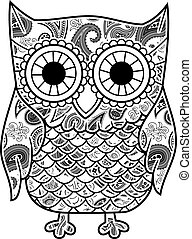 abstract decorative owl