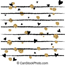 Abstract decorative vector background  with golden confetti