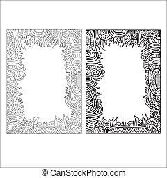 Abstract decorative vector ethnic borders