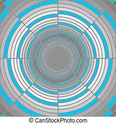 Abstract deep gray tube, blue lighting