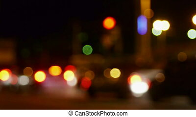 Abstract defocused city street lights