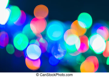 Abstract defocused colorful bokeh light background