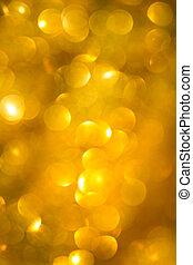 Abstract defocused gold bokeh