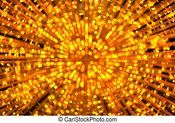 Abstract defocused gold lights background