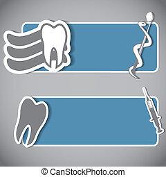 Abstract dental banner set