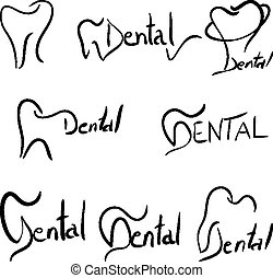 Abstract dental illustration of a teeth