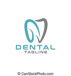 Abstract dental logo design template vector illustration