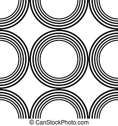 Abstract descending circle tiles on transparency background element