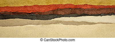 abstract desert or badlands landscape
