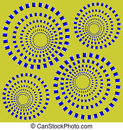 abstract desgin with geometric shapes optical illusion illustration