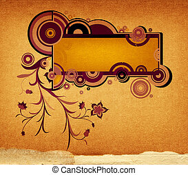abstract design - abstract floral composition, design with...