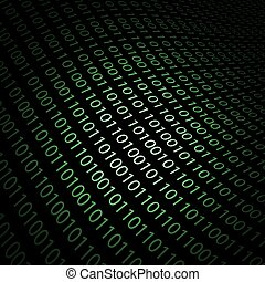 Abstract design-Binary code 3D background. Technology concept.