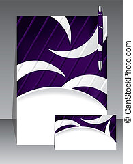Abstract design business set of 3