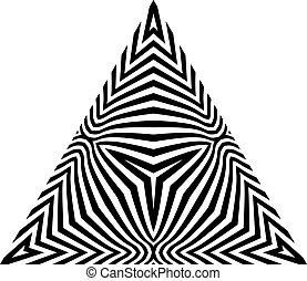 Abstract Design Element. Optical Art.