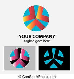 Abstract design element with circle