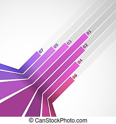 Abstract design element with pink lines