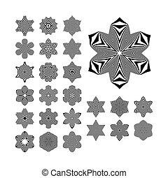 Abstract Design Elements. Optical Art.