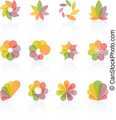 Abstract design elements. Vector il