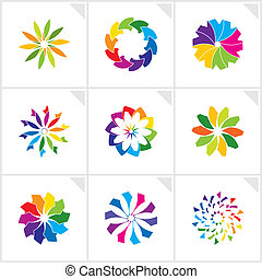 Abstract design elements. Vector.
