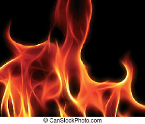 Abstract design fire illustration background