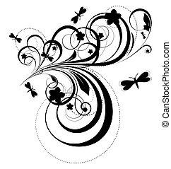 Abstract Design Flora Art