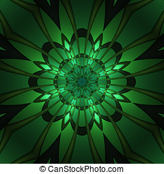 Abstract design in fractal art style - Abstract green design...