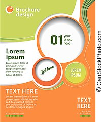 Abstract design layout template