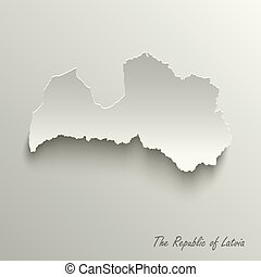 Abstract design map the Republic of Latvia template vector ...