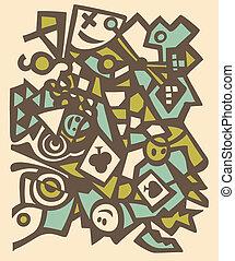 Abstract design, mosaic texture.