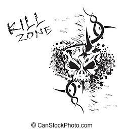 Grunge Skull Background
