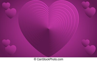 Abstract Design of heart on valentine background