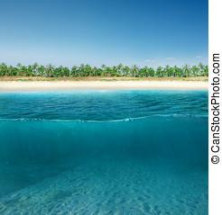 Abstract design of water split