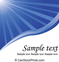 Abstract design, sun and waves on white background, space for text
