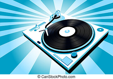 abstract design, turntable and rays