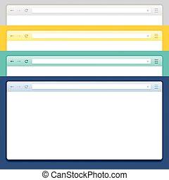 Abstract Design Vector Computer Browser