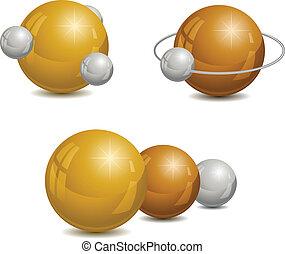 Abstract design wiht spheres.
